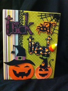 Another Kathy Orta inspired Halloween scrapbook.