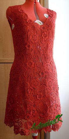 Crochet by Ukrainian Crochet Queen Antonina Kuznetsova: Red_dress | Flickr - Photo Sharing!
