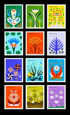yup - these are the most beautiful stamps ever! so bright!