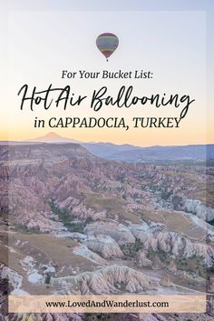 If there's one thing you must do in Cappadocia, then a hot air balloon ride definitely gets my vote. There's nothing quite like floating through the air Europe Travel Outfits, Europe Travel Tips, Asia Travel, Balloon Rides, Air Balloon, Road Trip Europe, Winter Travel Outfit, Travel Inspiration, Travel Ideas