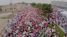"""Look at all those people ready to say """"Adios"""" to breast cancer. #2015RaceForTheCure"""