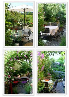 Elegant Reise durch die Jahreszeiten der Bistrogarten Ein Schweizer Garten