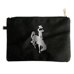 Wyoming Cowboys Platinum Logo Canvas Pouch Bag ** Click on the image for additional details. (This is an affiliate link) Wyoming Cowboys, Clutch Tutorial, Louis Vuitton Clutch, Clutch Handbags, Pouch Bag, Clutches, Zip Around Wallet, Coin Purse, Canvas