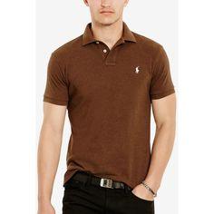 8942bed5 Polo Ralph Lauren Men's Custom-Fit Mesh Polo Shirt ($85) ❤ liked on
