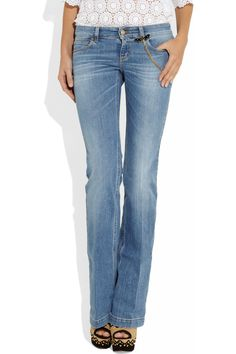 Gucci Chain-trimmed straight-leg jeans.