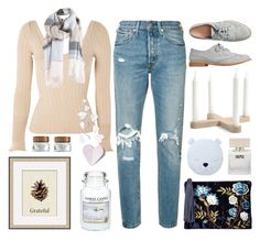"""""""- Top Set - Butterfly Kisses"""" by lysianna ❤ liked on Polyvore featuring Levi's, Topshop, Gap, Sam Edelman, Pottery Barn, Yankee Candle, Bella Freud, cute, soft and pastel"""