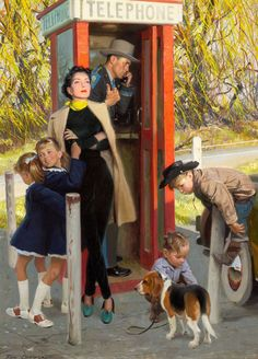 Tom Lovell - making a phone call