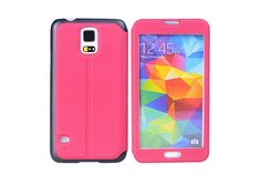 Full Screen Window Viewing Flip Leather Protector Cases for Samsung Galaxy S5 | Lagoo Tech