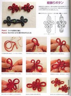 beautiful craft buttons how to make buttons and loops china. unique buttons perfect for craft projects: crochet button tutorial, knot chinese buttons tutorial, Sewing Hacks, Sewing Tutorials, Sewing Crafts, Sewing Projects, Sewing Patterns, Crochet Patterns, Clay Tutorials, Passementerie, Macrame Knots