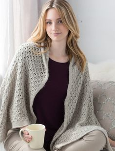 Willow Lace Shawl Knitting Loom ~*~ Free Pattern