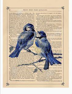 Коллекция картинок: Antique Dictionary Art Prints
