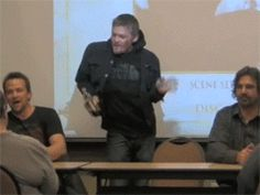 Norman Reedus ..... what are you doing? (GIF)