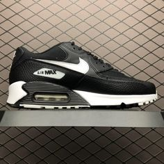 49de9f82b04c Buy Nike Air Max 90 Essential Black Summit White Mens Sneakers 325213-060-4