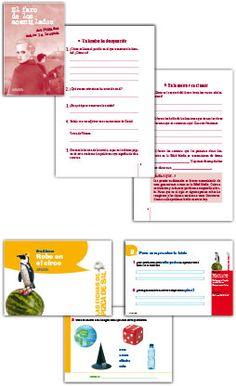 Recursos para actividades de animación a la lectura: proyectos de lectura, propuestas didácticas, fichas de actividades...