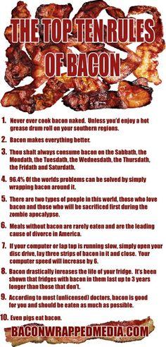 MMMMMM Bacon!  The Top Ten Rules of Bacon | Little White Lion