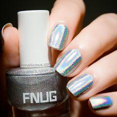 silver holographic nail polish | FNUG