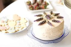 lavender on cake