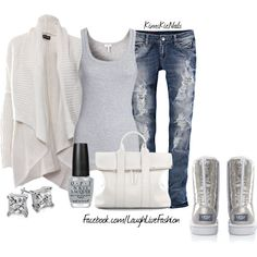 """Glitter Ugg's"" by kimskienails on Polyvore"