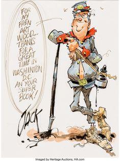 Jack Davis Self-Caricature Original Art Original Comic Caricature Artist, Caricature Drawing, Original Art, Character Drawing, Character Design, Caricatures, Jack Davis, Funny Paintings, Cunha