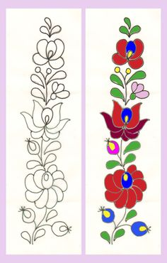 Hungarian braided chain stitch - embroidery designs drawings and stencils for . Hungarian Braided Chainstitch – Embroidery Patterns Drawings and Templates: Flower Drawings for E Mexican Embroidery, Hungarian Embroidery, Folk Embroidery, Primitive Embroidery, Embroidery Letters, Simple Embroidery, Flower Embroidery, Chain Stitch Embroidery, Embroidery Stitches