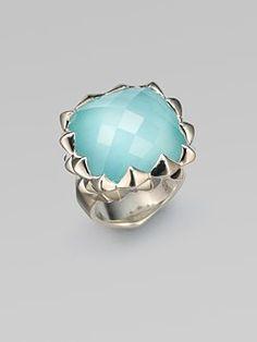 Stephen Webster - Blue Quartz & Sterling Silver Ring