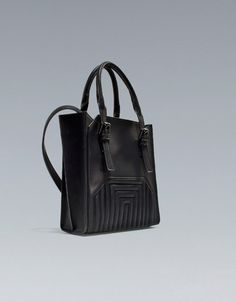 MINI SHOPPER BAG WITH QUILTING DETAIL - Handbags - Woman - ZARA United States