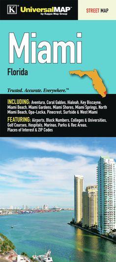 Miami/Dade County Florida Fold Map (Set of 2)