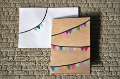 Colourful bunting stationary set