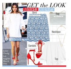 """""""Get The Look-Jamie Chung"""" by kusja ❤ liked on Polyvore featuring Raye, GetTheLook, celebstyle and jamiechung"""