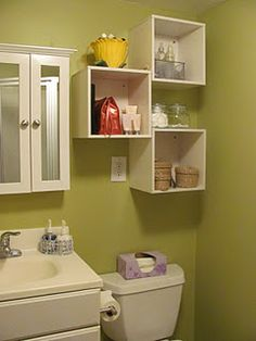 Another Bathroom Storage Idea Design Wall Cube Cubbies Shelves Diy Thrifty