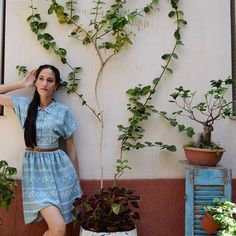 Chillin' in Ciel Summer dress! ☉🍹 Find the look in our Etsy store. Link in bio 👌 Greek Fashion, Lindy Hop, Shirtdress, Etsy Store, Vintage Dresses, That Look, Things To Come, Short Sleeve Dresses, Spring Summer