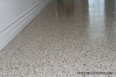 Epoxy chip flooring in Columbia City, Indiana by Dancer Concrete Design of Fort Wayne, Indiana.