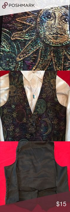 Best American Clothing Co. Tie-Back Vest This beautiful moon motif vest will look great with white blouse and jeans best american clothing co. Other