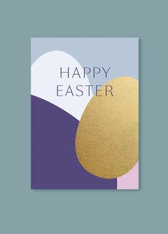Happy Easter Card with gold effect | Sarah Le Donne