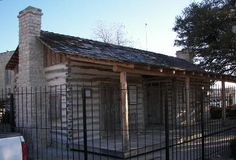 Old Cora, Comanche County dog trot cabin courthouse, Texas built in 1856