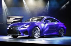 DETROIT, MI - JANUARY 14: The 2015 Lexus RCF is revealed at the press preview of the 2014 North American International Auto Show January 14, 2014 in Detroit, Michigan.