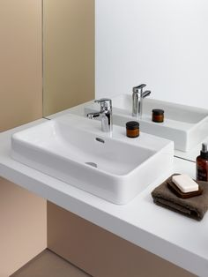 Washbasin, undersurface ground 'compact' | LAUFEN PRO S | TOTAL BATHROOM SETS | Collections | Laufen