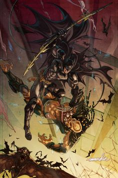 Batman Vs. Predator by emmshin.deviantart.com on @deviantART