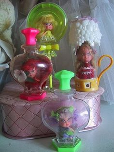 Little Kiddles - I opened my Honeysuckle all the time--I loved her so much! But I eventually lost her.  My big sister was more disciplined.  She still has her lovely smelling Violet on her dresser to this day.  Sure brings back some of my happiest childhood memories!
