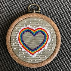 Frosted rainbow heart hoop/Valentine's Day gift/ wall art/ home decor Valentine Day Gifts, Valentines, Square Canvas, Rainbow Heart, Chain Stitch, Floral Bouquets, Handmade Art, Poppies, Finding Yourself