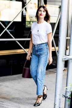 96 of the Chicest White T-Shirt Outfits I've Ever Seen | Who What Wear