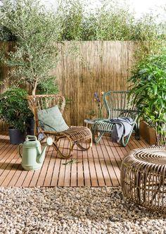 DIY Patio Gardens Ideas on a Budget ✓ - patio - Garten Patio Garden Ideas On A Budget, Backyard Ideas For Small Yards, Budget Patio, Diy Patio, Small Backyard Patio, Small Garden Ideas Bamboo, Small Garden Oasis, Oasis Backyard, Patio Decorating Ideas On A Budget