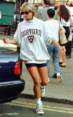 Photographs of Princess Diana Wearing Bike Shorts in the Mid-1990s ~ Vintage Everyday