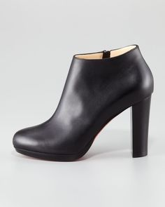 red bottom christian louboutin shoes, christian louboutin high boots cheap $252, Christian Louboutin Rock Platform Red Sole Bootie
