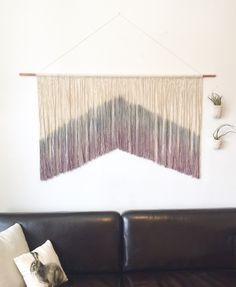 """Large wall hanging, macrame wall hanging, large tapestry, wall art, wall decor. Custom colours available, just ask! 50"""" wide. Item #55 by Rowanstudios on Etsy https://www.etsy.com/uk/listing/275324432/large-wall-hanging-macrame-wall-hanging"""