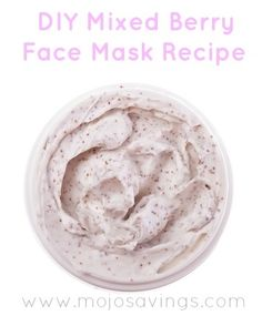 DIY Mixed Berry Face Mask Recipe #vitamix Get FREE ground shipping on any blender purchase at Vitamix.com with code 06-006499