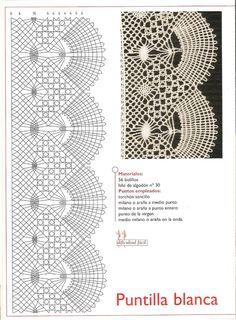 Фотография Crochet Borders, Crochet Diagram, Crochet Motif, Crochet Lace, Crochet Patterns, Bobbin Lacemaking, Lace Art, Bobbin Lace Patterns, Hairpin Lace