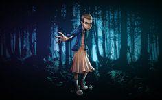 Eleven - Stranger Things, Morgane VAAST on ArtStation at https://www.artstation.com/artwork/dGQd1