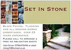 To transform your garden and patio or driveway Call Colin on 07966476446 or  email coling70@hotmail.co.uk Stone Blocks, Block Paving, Garden, Courtyards, Lawn And Garden, Gardens, Outdoor, Home Landscaping, Tuin