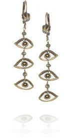 Isabel Marant Golden Eyes gold-tone and pyrite drop earrings
